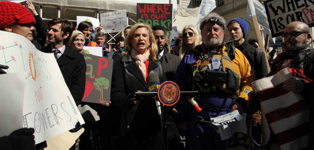 Carolyn Maloney at City Hall