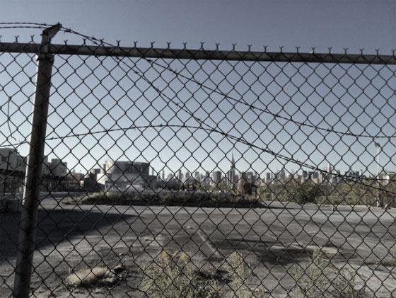 Bushwick Inlet Park - Bayside behind fence & razor wire